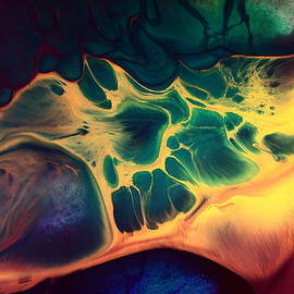Serg Wiaderny - Colorful Fluid Art-Wave of Fire by kredart