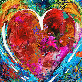 Sharon Cummings - Colorful Heart Art - Everlasting - By Sharon Cummings
