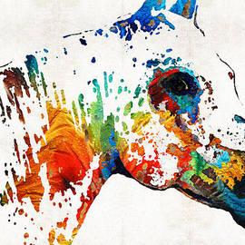 Sharon Cummings - Colorful Horse Art - Wild Paint - By Sharon Cummings