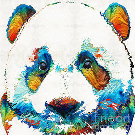 Sharon Cummings - Colorful Panda Bear Art By Sharon Cummings