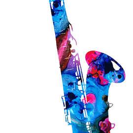 Sharon Cummings - Colorful Saxophone 2 by Sharon Cummings