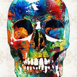 Sharon Cummings - Colorful Skull Art - Aye Candy - By Sharon Cummings