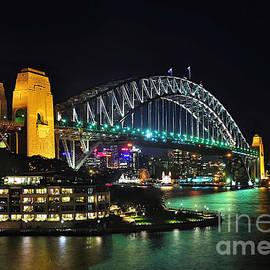 Kaye Menner - Colorful Sydney Harbour Bridge by Night 3