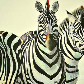 Maja Sokolowska - Colorful zebras painting