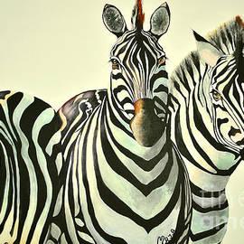 Maja Sokolowska - Colorful zebras painting