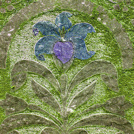 Jean Noren - Colorized Moss Covered Gravestone