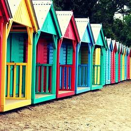 April Allen - Colourful Beach huts