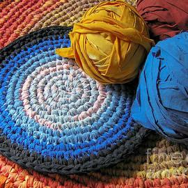 Kerstin Ivarsson - Colourful crochet rag rugs in sunlight