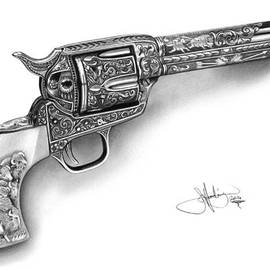 John Harding - Colt Revolver drawing