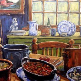 Richard T Pranke - Company for Dinner by Prankearts