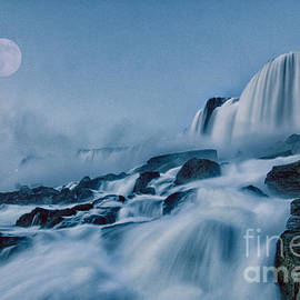 James Neiss - COMPOSITE Niagara Super Moon