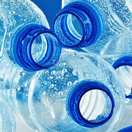 T Monticello - Composition with empty plastic bottles of mineral water