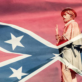 Don Johnson - Confederate Wrapped in Flag