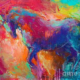Svetlana Novikova - Contemporary vibrant horse painting