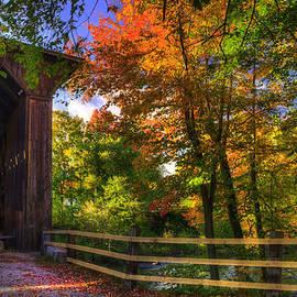 Joann Vitali - Contoocook Covered Bridge in Autumn