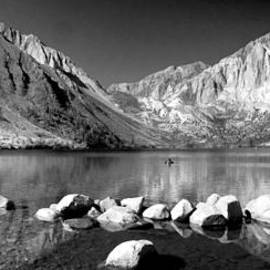 Lynn Bauer - Convict Lake Pano in Black and White