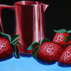 Susan Duda - Copper Creamer and Strawberries