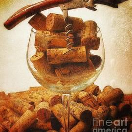 Corks and elegant corkscrew