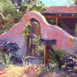 Carol Hopper - Corrales Adobe Wall and Gate III