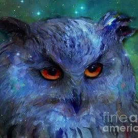 Svetlana Novikova - Cosmic Owl painting