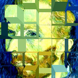Jerome Stumphauzer - Cosmic Van Gogh Portrait