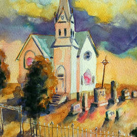 Kathy Braud - Country Church at Sunset