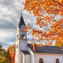 Jeff Folger - Country church under fall colors