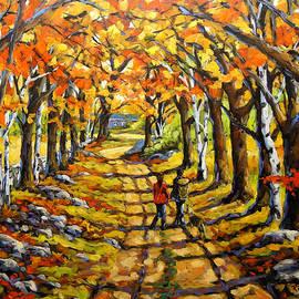 Richard T Pranke - Country Lane Romance by Prankearts