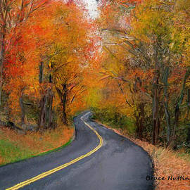 Bruce Nutting - Country Road in Autumn
