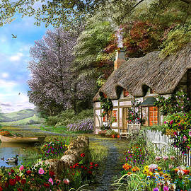 Countryside Cottage - Fine Art