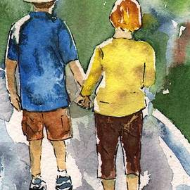 Sharon Mick - Couple in Love Walking Away Iphone case