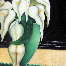 Tal Alperovitch - Couple of vases with Calla lilies