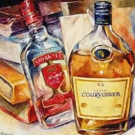 Leonid Afremov - Courvoisier - PALETTE KNIFE Oil Painting On Canvas By Leonid Afremov