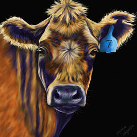 Michelle Wrighton - Cow Art - Lucky Number Seven