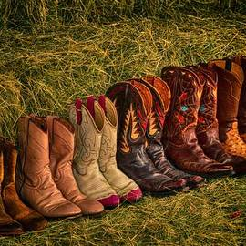 Kristina Deane - Cowboy Boots on Hay