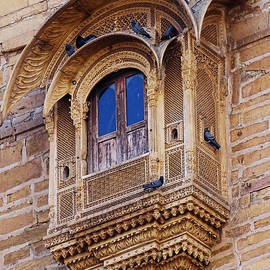Sue Jacobi - Cozy Ornate Balcony Window Jaisalmer Fort Rajasthan India