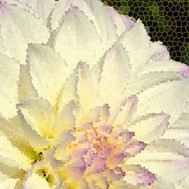 Eva Kaufman - Cream Colored  Dahlia in Stained Glass