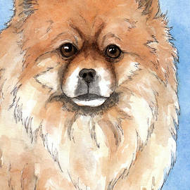 Cherilynn Wood - Cream Pomeranian dog