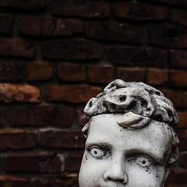 Edward Fielding - Creepy Marble Boy Garden Statue