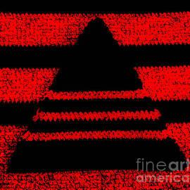 Kerstin Ivarsson - Crochet pyramid digitally manipulated