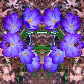 Debra Thompson - Crocus Flower Heart with Ladybug