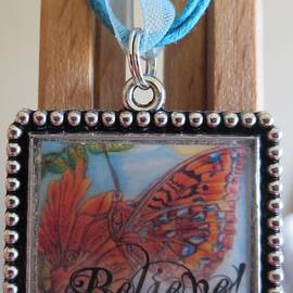 Kimberlee  Baxter - Believe...a Colorful Butterfly Lights Upon a Tiger Lily in a Necklace