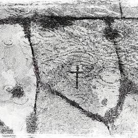 Menega Sabidussi - Cross Carved in Churchdoor Flagstone in Ireland