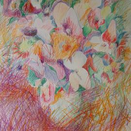 Esther Newman-Cohen - Cross Hatch of Flowers