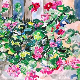 Esther Newman-Cohen - Crosspatch of Geraniums