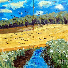 Charlie Spear - Crows Over a Wheat Field