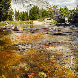 Jerry Cowart - Crystal Clear Tuolumne Meadows Mountain Tranquil Stream Yosemite National Park California