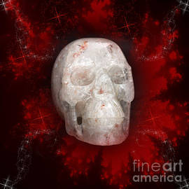 Terri  Waters - Crystal Skull on Red