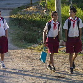 David Litschel - Cuban School Boys Walking Home