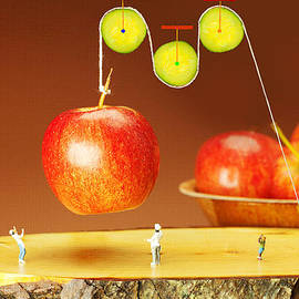 Paul Ge - Cucumber pulley moving apples food physics